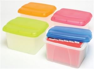 Picture of Crystalfile Porta Box  Summer Colours Clear With Lime Lid
