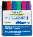 Picture of Artline 577 Whiteboard Markers Bullet Tip Assorted Wallet 6