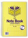 Picture of A5 Spirax  Note Books  570 Side Opening 200P Pack 5