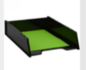 Picture of Document Tray Italplast Green Recycled Black